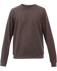 Les Tien ブラッシュドバックコットン スウェットシャツ - マルチカラー