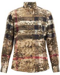 Burberry - クリストン チェック&カモフラージュシャツ - Lyst