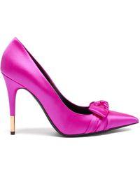Tom Ford リボン サテン ポインテッドトゥパンプス - ピンク