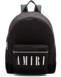 Amiri キャンバスバックパック - ブラック