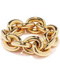 Bottega Veneta Bracelet en argent plaqué or 18 carats Chunky - Métallisé