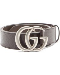Gucci GG Supreme Buckle Belt - Brown