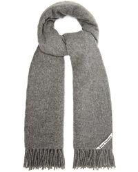 Acne Studios Canada Wool Scarf - Gray