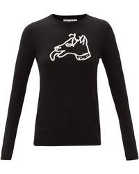 Bella Freud ドッグ ウールセーター - ブラック