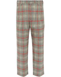 Barena Prince Of Wales Check Wool Blend Trousers - Gray