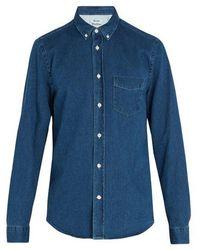 Acne Studios - Isherwood Den Cotton-denim Shirt - Lyst