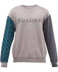 JW Anderson ロゴ コットンスウェットシャツ - グレー
