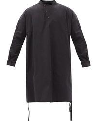 Toogood The Artist Cotton-blend Tunic Shirt - Black
