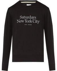 Saturdays NYC - Bowery Logo-embroidered Cotton Sweatshirt - Lyst