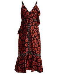 Proenza Schouler - Floral-jacquard Ruffle-trimmed Dress - Lyst