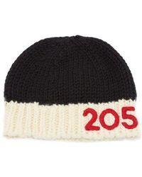 CALVIN KLEIN 205W39NYC - Logo-appliqué Wool Beanie Hat - Lyst