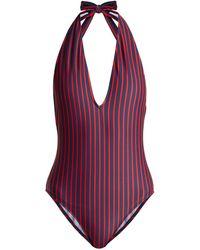 LaDoubleJ - Riviera Striped Swimsuit - Lyst