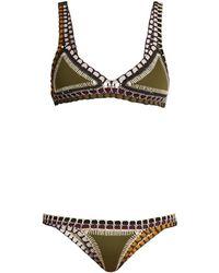KIINI - Wren Crochet Trimmed Triangle Bikini - Lyst