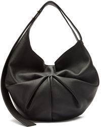 Tsatsas Sacar Ruched Slouchy-leather Shoulder Bag - Black