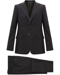 Gucci London Single-breasted Wool-blend Suit - Grey