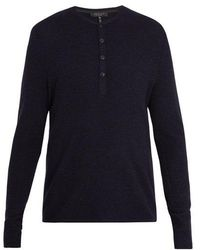 Rag & Bone - Giles Ribbed-knit Wool Henley Top - Lyst