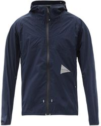 and wander 3l Hooded Technical-shell Rain Jacket - Blue