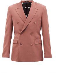 Paul Smith ウールツイル ダブルスーツジャケット - ピンク