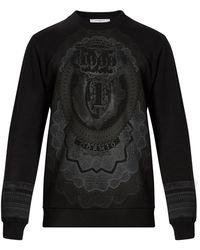 Givenchy Cuban-fit Dollar-print Cotton Sweatshirt - Black