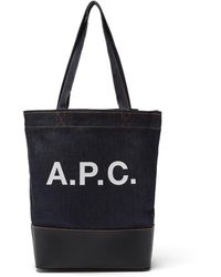 A.P.C. アクセル デニム&レザートートバッグ - マルチカラー