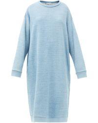 Raey オーバーサイズ コットンスウェットシャツドレス - ブルー