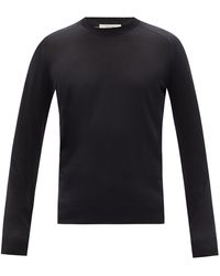 The Row Scott Silk-blend Sweater - Black