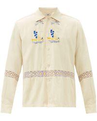 Bode セーリング シルクキャンバスシャツ - マルチカラー