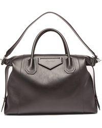 Givenchy アンティゴナ ソフト ミディアム レザーバッグ - ブラック