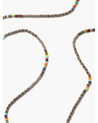 Luis Morais Glass Beads & 14kt Gold Necklace - Metallic