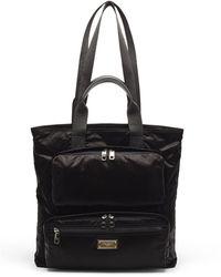 Dolce & Gabbana ガーメントダイシェル トートバッグ - ブラック