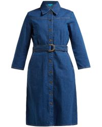 M.i.h Jeans Aria Denim Shirtdress - Blue