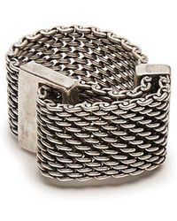 Title Of Work - Macro-mesh Sterling-silver Ring - Lyst