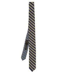 Etro - Striped Woven-silk Tie - Lyst