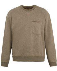 ATM - Patch-pocket Cotton-blend Sweatshirt - Lyst