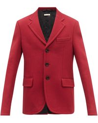 Marni Single-breasted Cotton-jersey Suit Jacket - Red