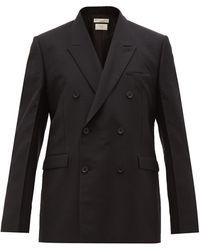 Bottega Veneta Double-breasted Mohair-blend Blazer - Black
