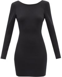 Dolce & Gabbana スクープバック ジャージーミニドレス - ブラック