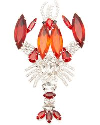 Aurelie Bidermann Collier en or rose 18 carats à opale cœur
