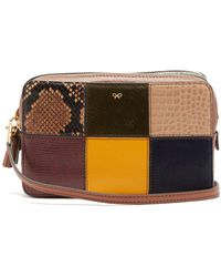 Anya Hindmarch Patchwork Snake-effect Leather Cross-body Bag - Multicolor