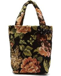Simone Rocha - Sequin Embellished Floral Jacquard Tote - Lyst