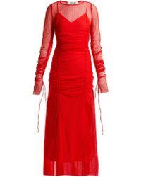 Diane von Furstenberg - Robe de soirée en dentelle froncée - Lyst