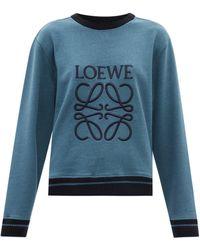 Loewe - アナグラム コットンスウェットシャツ - Lyst