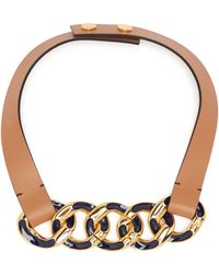 Marni - Chain Link Leather Necklace - Lyst
