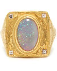 Orit Elhanati Cairo Diamond, Opal & 18kt Gold Ring - Metallic
