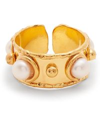Sylvia Toledano | Stone Maasai Pearl-embellished Gold-plated Ring | Lyst