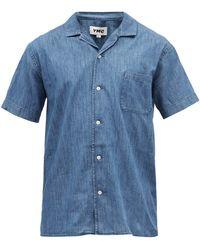 YMC マリック オーガニックコットンシャツ - ブルー