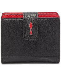 Christian Louboutin Paloma Bi Fold Grained Leather Wallet - Black