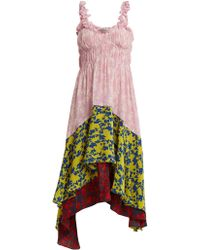 Preen Line - Lilah Panelled Floral-print Crepe Dress - Lyst