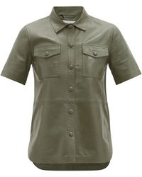 Stand Studio Danna Short-sleeved Leather Shirt - Multicolor