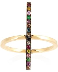 Ileana Makri   Rainbow Stones & Yellow-gold Ring   Lyst